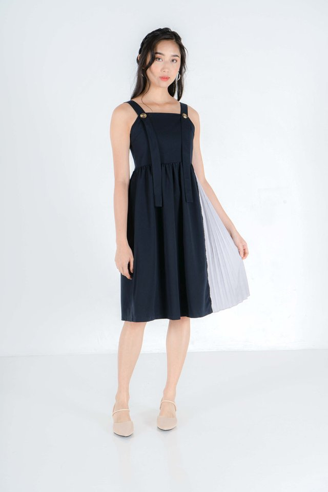 Renee Pinafore Midi Dress