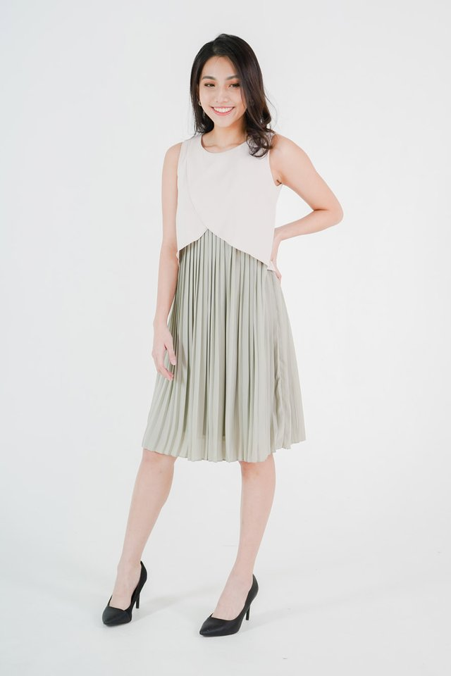 Valencia Pleated Dress
