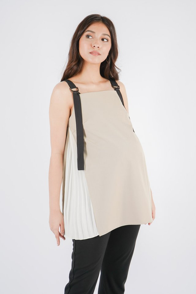 [MATERNITY] Ashley Pleated Top