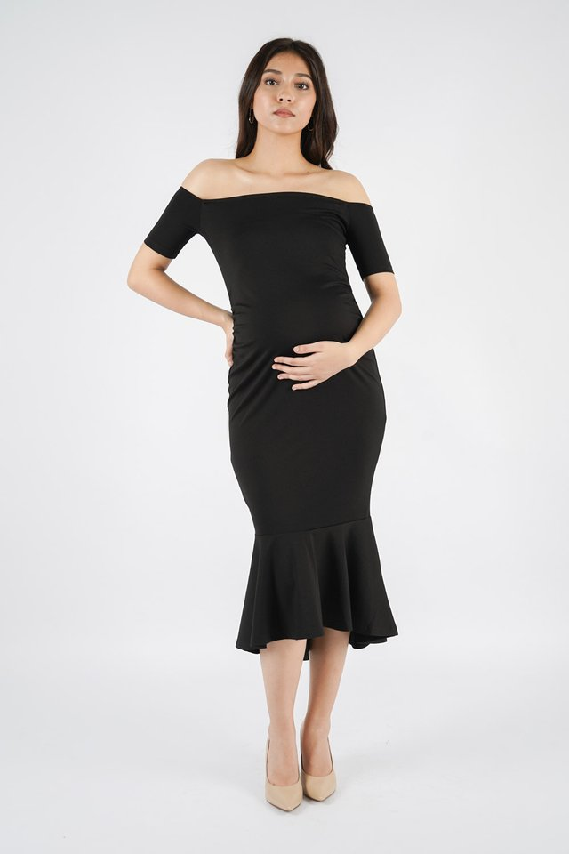 [MATERNITY] Heidi Off Shoulder Dress