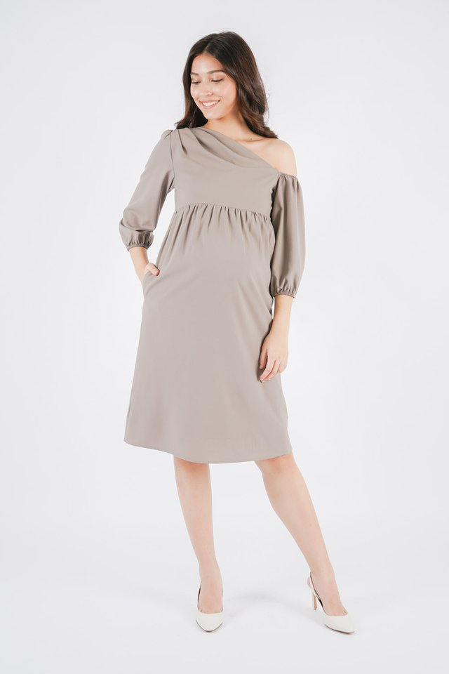 [MATERNITY] Joyce Cold Shoulder Dress